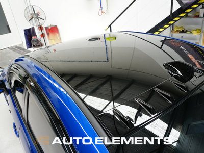 Auto Elements Australia Sydney HaloEFX Performance Coatings Authorised Applicator Workshop Services Refinishing Paint Reversible Subaru Impreza WRX STI 2016 VAB GlossBlack Roof Colour Coding Roof