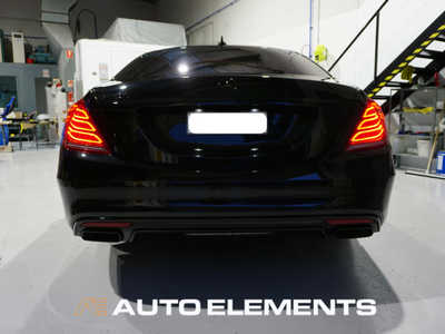 Auto Elements Australia Sydney HaloEFX Performance Coatings Mercedes S500 AMG Black Gangster Peel Removable Paint Gloss Protection