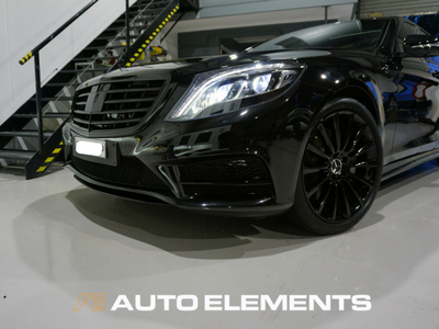 Auto Elements Australia Sydney HaloEFX Performance Coatings Mercedes S500 AMG Black Gangster Peel Removable Paint Gloss Protection Grille