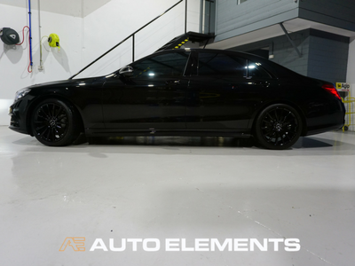 Auto Elements Australia Sydney HaloEFX Performance Coatings Mercedes S500 AMG Black Gangster Peel Removable Paint Gloss Protection Side
