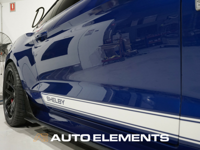 Auto Elements Clear Shield Protect PPF Paint Protection Removable Paint Peelable Sydney Applicator Spray Refinishing Ford Mustang Shelby 500 50th Anniversary