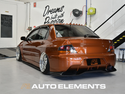 Auto Elements Removable Paint Peelable Sydney Applicator Spray Refinishing Mitsubishi Evolution 8 EyeCandyCustomz Airliftperformance