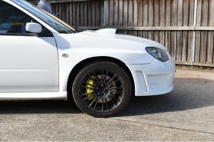 Auto Elements Services Custom Installation Widebody 2006 Subaru Impreza WRX STi Hawkeye ABW Widebody WRC Front