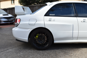 Auto Elements Services Custom Installation Widebody 2006 Subaru Impreza WRX STi Hawkeye ABW Widebody WRC Rear