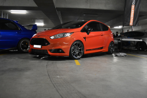 Auto Elements Services FItment 2015 Ford Fiesta FRP SIde Skirt Extensions Front Splitter
