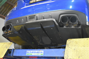 Auto Elements Services Installation 2015 Subaru Impreza WRX Rear Diffuser Carbon