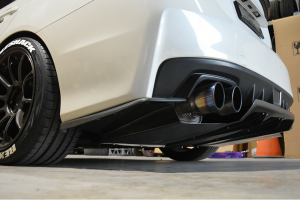 Auto Elements Services Installation 2015 Subaru Impreza WRX Rear Diffuser Carbon Custom Fitment
