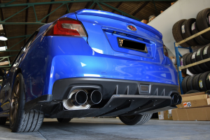 Auto Elements Services Installation 2015 Subaru Impreza WRX Rear Diffuser Carbon Fitment