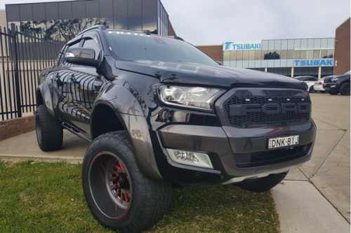 Auto Elements Services Paint Custom Flares Ford Ranger PX2 Wildtrak 100mm